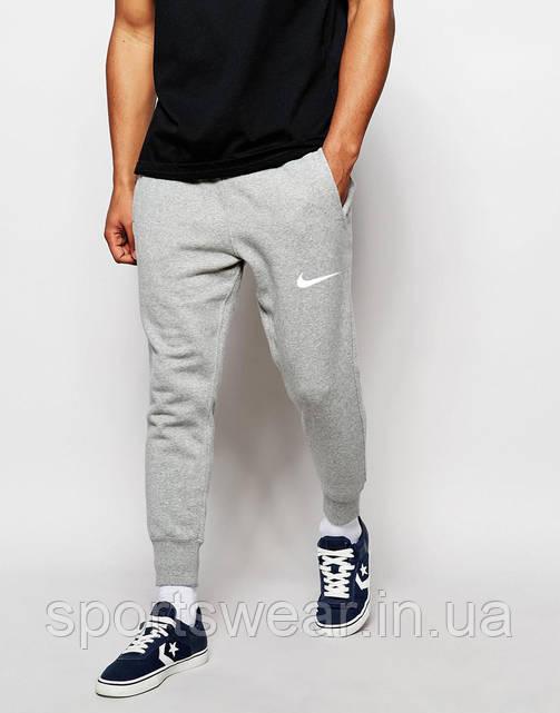 Мужские спортивные штаны Nike |  Найк серые ( Белый принт )