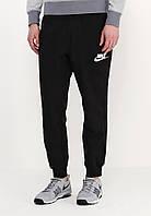 Мужские спортивные штаны Nike |  Найк черные ( значек + имя )