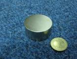 Магнит неодимовый (45*20) сила 70кг.
