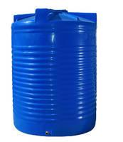 Емкость 1500 л. вертикальная, двухслойная синяя