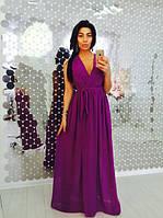 Женское длинное шифоновое платье , много цветов