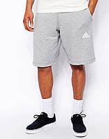Шорты мужские Adidas серые белый значёк