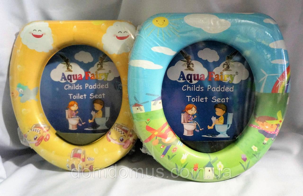 Детская мягкая накладка для унитаза  Aqua Fairy