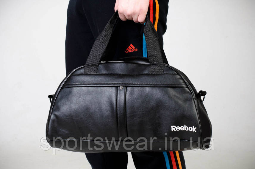 Спортивная сумка REEBOK черная ( лого вышито )