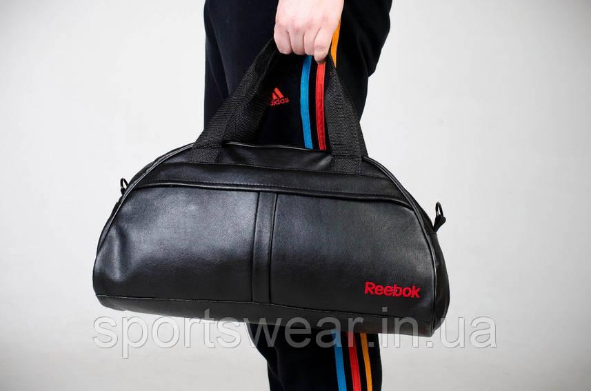 Спортивная сумка REEBOK черная ( лого красный вышито )