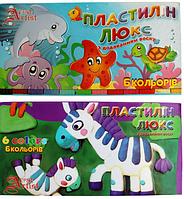 """Пластилин восковой 6 цв """"ЛЮКС"""" в пластиковой коробке"""