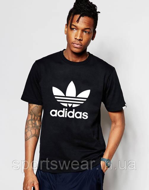 Футболка черная Adidas Original. Н1