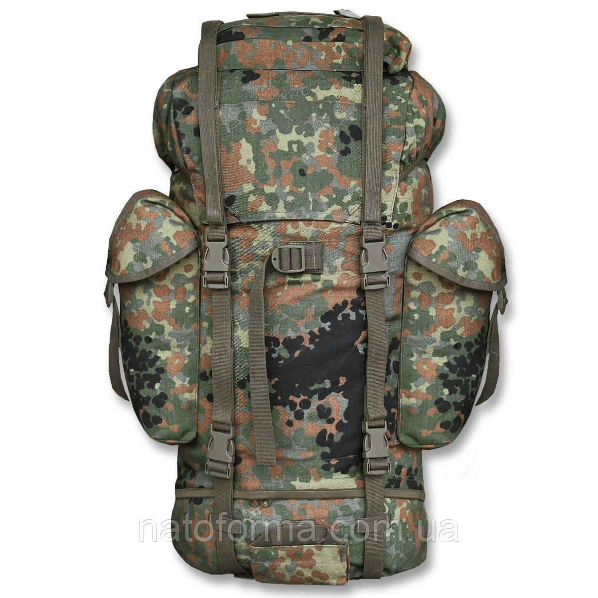 Походный (рейдовый, боевой) рюкзак армии Бундесвера, ОРИГИНАЛ, флектарн, на 65л