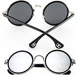 Очки круглые 67ЗC зеркальные в серебряной оправе кроты тишейды авиаторы винтажные, фото 2
