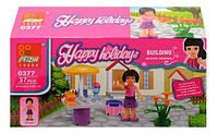 """Конструктор Девочка с аксессуарами Brick 0377 """"Серия для девочек """"Happy holiday"""""""