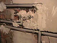 Штробление стен кирпичных под трубы, п/м