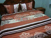 Постельное белье из бязи оптом и в розницу, Абстракция-полоска на коричневом фоне 0913-2