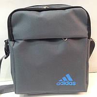 Мужская спортивная барсетка  adidas \\сумочка\\оксфорд ткань вышитые ткани(20Х24СМ) оптом