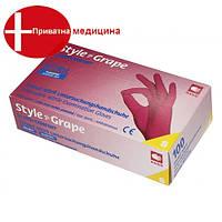 Перчатки нитриловые без пудры STYLE COLOR GRAPE, фото 1