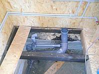 Монтаж канализации ПВХ  ревизиями. зонтами .воздушными клапанами