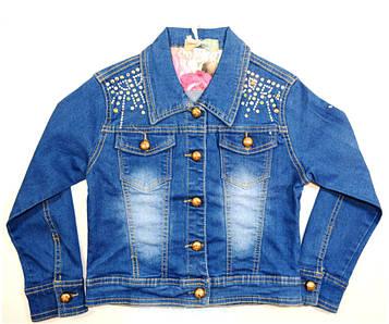 Куртка джинсовая на девочку, подростковая