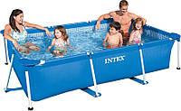 Каркасный бассейн Intex 28270, серия Rectangular Frame, 2,2*1,5*0,6 м, стальной каркас, 1662л