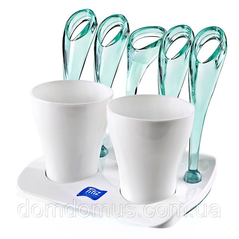 Подставка для зубных щеток и пасты Titiz Plastik