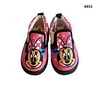 Мокасины Minnie Mouse для девочки. 13 см