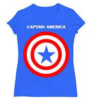 """Футболка женская с принтом  Captain America """"Капитан Америка"""" Первый мститель"""