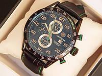 Мужские механические наручные часы Tag Heuer Carrera Calibre 16 на кожаном ремешке