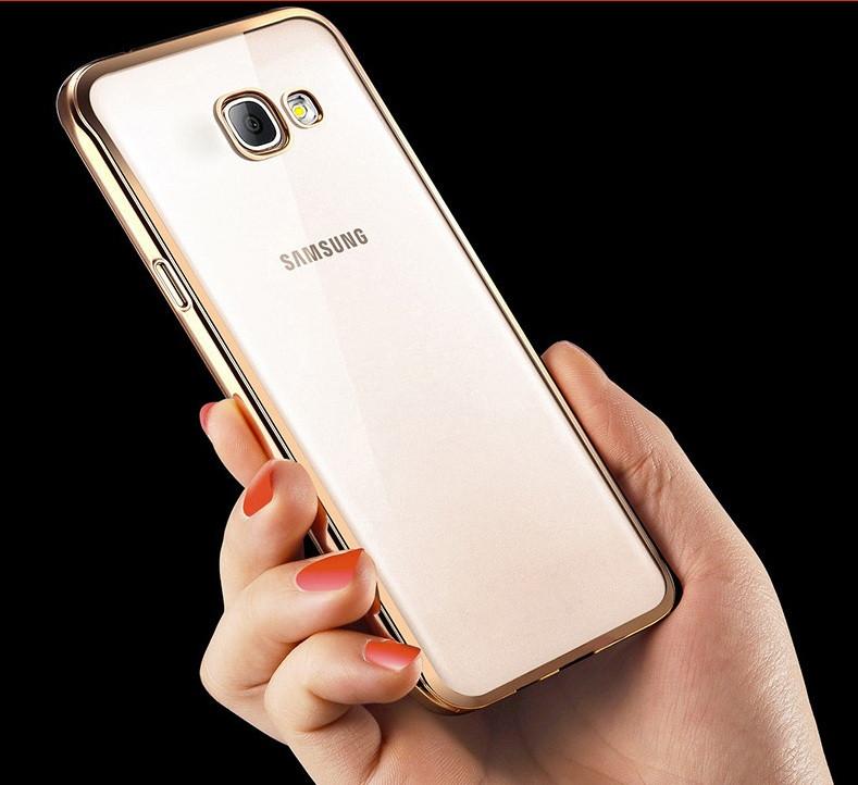 Чехол для Samsung A5 A510 силиконовый с цветным ободком