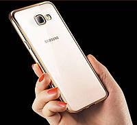 Чехол для Samsung A5 A510 силиконовый с цветным ободком, фото 1