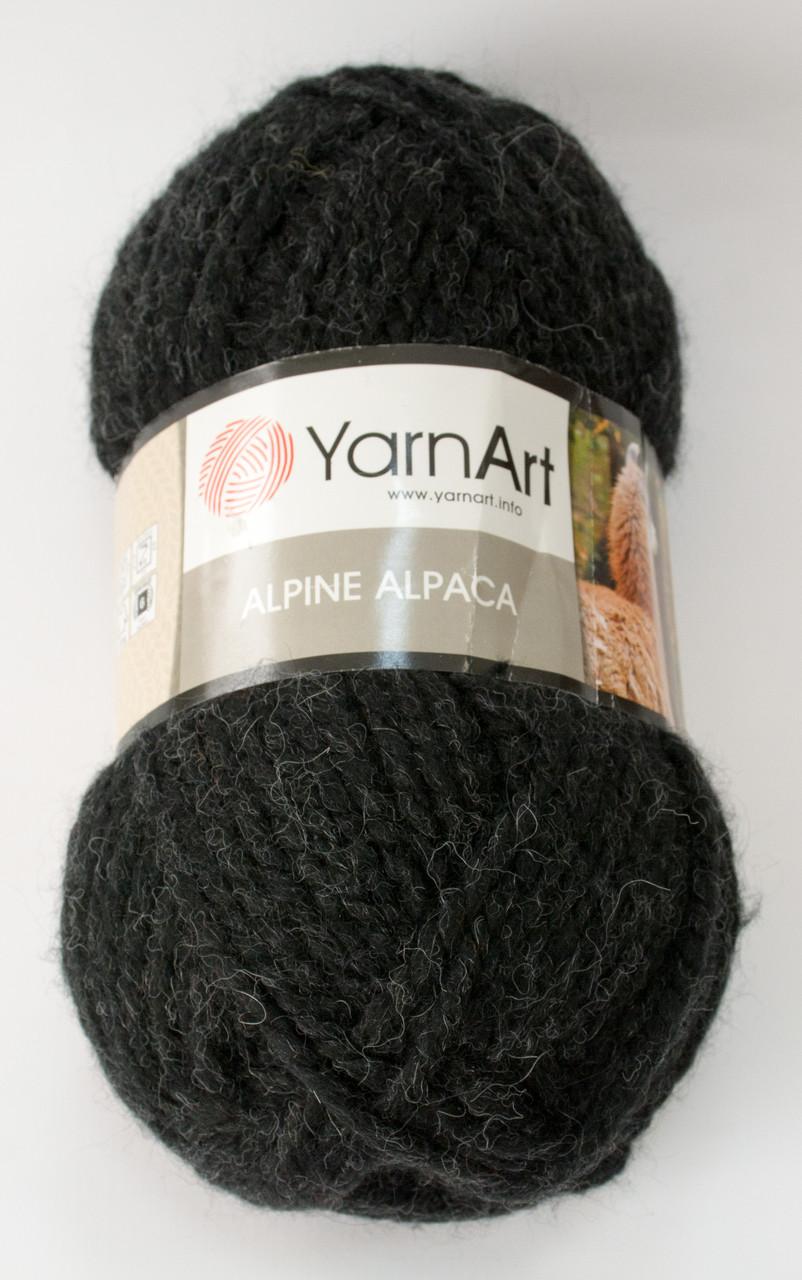 Пряжа alpine alpaca - цвет черный