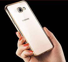 Чехол для Samsung A7 A710 силиконовый с цветным ободком