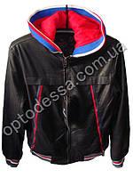 Куртка мужская Двойка обманка кожзам (yw52), фото 1