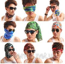 Летний бафф, buff, бесшовный шарф, повязка (#150), фото 3