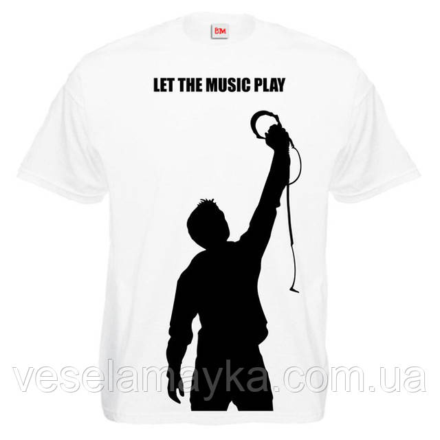"""Футболка """"Let the music play"""""""
