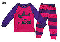 Пижама Adidas для девочки. 80, 130 см, фото 1