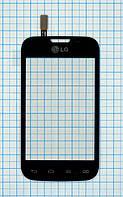 Тачскрин сенсорное стекло для LG D170 Optimus L40 black