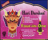 БЛАГОВОНИЕ БЕЗОСНОВНОЕ Hari Darshan Sevashram 4 в 1 (16/УП) четыре аромата, Аюрведа Здесь