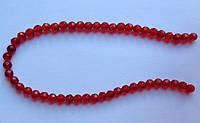 Бусина Шар с огранкой цвет красный 6 мм