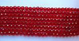 Намистина Куля з огранюванням колір червоний 6 мм, фото 4