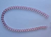 Бусина Шар с огранкой цвет розовый 6 мм