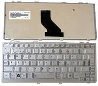 Клавиатура для ноутбука TOSHIBA (NB200, NB205, NB250, N300) rus, eng, silver, фото 1