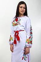 Вышитое платье женское  длинный рукав