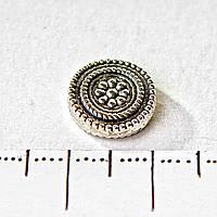 Бусина для браслетов темный металл Цветок круглая