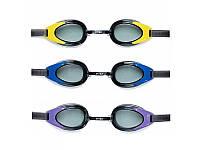 Очки для плавания 55685  от 14 лет, в слюде, 19,5-16-5 см черные