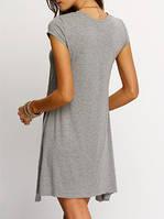 Хлопковое короткое платье, фото 1