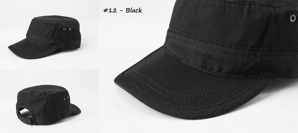 Кепка однотонная чёрная (Black)
