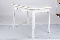 Стол обеденный Гаити 120 см белый+золотая патина (Микс-Мебель ТМ)