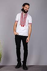 Чоловіча вишита сорочка на короткий рукав, фото 3