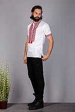 Мужская вышитая рубашка на короткий рукав , фото 2
