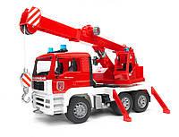 Игрушка Bruder Пожарная машина автокран MAN с модулем со световыми и звуковыми эффектами (02770), фото 1