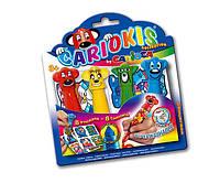 Cariocis фломастеры 4 цвета + 4 наклейки  CARIOCA 42044