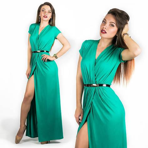 Бирюзовое платье 15536, фото 2